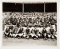 Baseball Collectibles:Photos, 1926 New York Yankees Original Team Photograph with 1927 McKibbinBlotter. ...