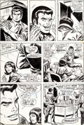 Original Comic Art:Panel Pages, Ross Andru, Frank Giacoia, and Dave Hunt Amazing Spider-Man#129 Story Page 6 Original Art (Marvel, 1974)....