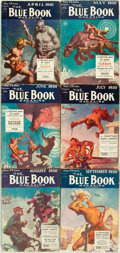 Books:Pulps, [Pulps]. Edgar Rice Burroughs. Complete Six Part Serialization ofthe Burroughs Story A Fighting Man of Mars. ...