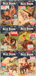 Books:Pulps, [Pulps]. Edgar Rice Burroughs. Complete Six Part Serialization of the Burroughs Story Tanar of Pellucidar. Blu...