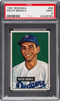 Baseball Cards:Singles (1950-1959), 1951 Bowman Ralph Branca #56 PSA Mint 9 - None Higher....