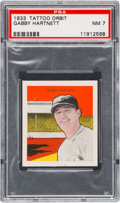 Baseball Cards:Singles (1930-1939), 1933 R305 Tattoo Orbit Gabby Hartnett PSA NM 7. ...