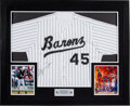 Basketball Collectibles:Others, 2000's Michael Jordan Signed Upper Deck Authenticated Birmingham Barons Jersey Display. ...