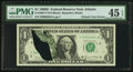 Error Notes:Printed Tears, Fr. 1907-F $1 1969D Federal Reserve Note. PMG Choice Extremely Fine45 EPQ.. ...