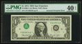 Error Notes:Inverted Third Printings, Fr. 1908-L $1 1974 Federal Reserve Note. PMG Extremely Fine 40EPQ.. ...