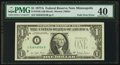Error Notes:Foldovers, Fr. 1910-I $1 1977A Federal Reserve Note. PMG Extremely Fine 40.....