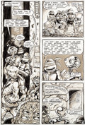 Original Comic Art:Panel Pages, Kevin Eastman and Peter Laird Teenage Mutant Ninja Turtles#5 Story Page 14 Fugitoid Original Art (Mirage, 1985)....