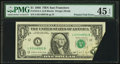 Error Notes:Foldovers, Fr. 1914-L $1 1988 Federal Reserve Note. PMG Choice Extremely Fine45 EPQ.. ...