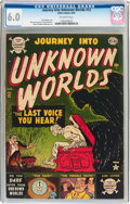 Golden Age (1938-1955):Horror, Journey Into Unknown Worlds #12 (Atlas, 1952) CGC FN 6.0 Off-whitepages....