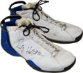 Basketball Collectibles:Uniforms, 2002 Richard Hamilton Game Worn, Signed Detroit Pistons/WashingtonWizards Sneakers....