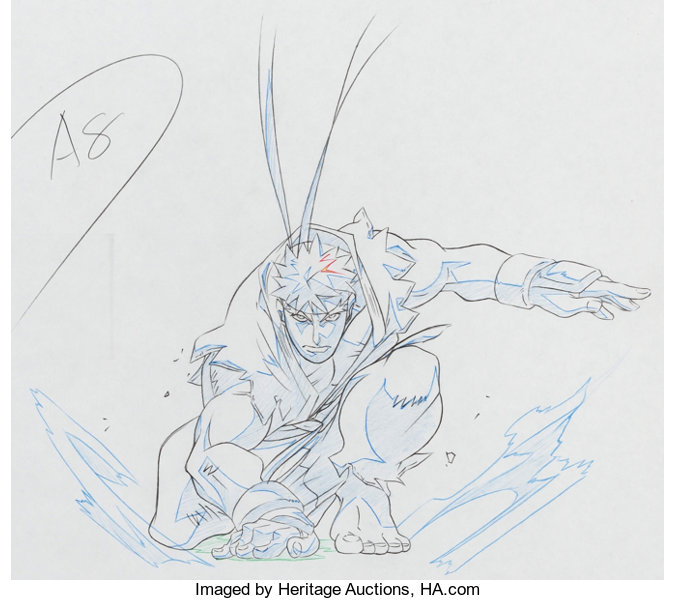 Street Fighter Zero Ryu Anime Animation Drawings And Preliminary