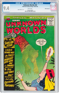 Unknown Worlds #20 White Mountain Pedigree (ACG, 1962) CGC NM 9.4 White pages