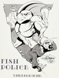 Original Comic Art:Complete Story, Steve Moncuse Fish Police #11 Complete 21-Page StoryOriginal Art and Text Pages Group of 27 (Fishwrap Productions...(Total: 27 Items)
