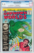 Silver Age (1956-1969):Science Fiction, Unknown Worlds #17 White Mountain Pedigree (ACG, 1962) CGC NM 9.4 Off-white to white pages....