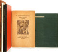 Books:Fiction, [Grabhorn Press]. Group of Six LIMITED Editions Printed by theGrabhorn Press. [Grabhorn, various dates].... (Total: 6 Items)