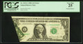 Error Notes:Foldovers, Fr. 1912-L $1 1981A Federal Reserve Note. PCGS Very Fine 25.. ...
