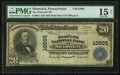 National Bank Notes:Pennsylvania, Shamokin, PA - $20 1902 Plain Back Fr. 661 The West End NB Ch. #12805. ...
