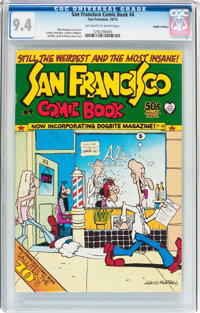 San Francisco Comic Book #4 Haight-Ashbury Pedigree (Print Mint, 1973) CGC NM 9.4 Off-white to white pages