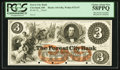Obsoletes By State:Ohio, Cleveland, OH- Forest City Bank $3 G8a Wolka 0732-07 Proof. ...