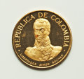 """Colombia, Colombia: Republic 5-Piece gold """"Battle of Boyaca"""" Proof Set1969-B,... (Total: 5 coins)"""
