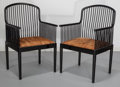Furniture : American, Davis B. Allen (American, 1916-1999). Pair of AndoverArmchairs, designed 1983, Stendig International. Lacqueredbeech w... (Total: 2 Items)