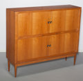 Furniture : Continental, Danish School (20th Century). Tambour Door Credenza, circa1950. Oak. 53-1/2 x 63 x 16-1/2 inches (135.9 x 160.0 x 41.9 ...