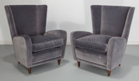 Paolo Buffa (Italian, 1903-1970) Pair of Lounge Chairs from the Hotel Bristol, Merano, circa 1950 Ve