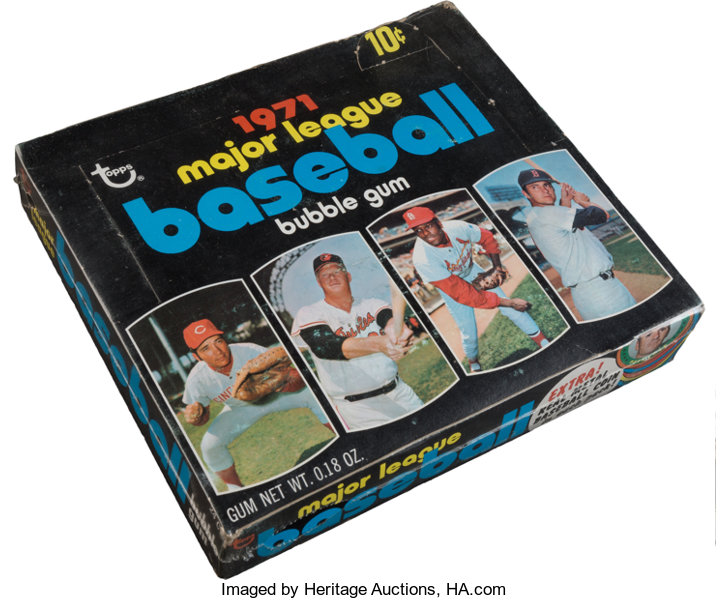 1971 Topps Baseball 4th Series Wax Box With 24 Unopened