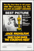 "Movie Posters:Academy Award Winners, One Flew Over the Cuckoo's Nest (United Artists, 1975). One Sheet (27"" X 41"") Academy Awards Style. Drama.. ..."