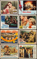 "Movie Posters:War, Away All Boats & Others Lot (Universal International, 1956).Title Lobby Cards (2) and Lobby Cards (6) (11"" X 14""), Deluxe S...(Total: 21 Items)"