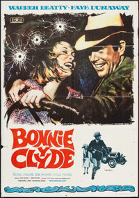 "Bonnie and Clyde (Mundial Films, 1968). Spanish One Sheet (27"" X 39""). Crime"