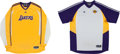 Basketball Collectibles:Uniforms, 2010's Metta World Peace Game Worn Los Angeles Lakers Warm-up Lotof 6....