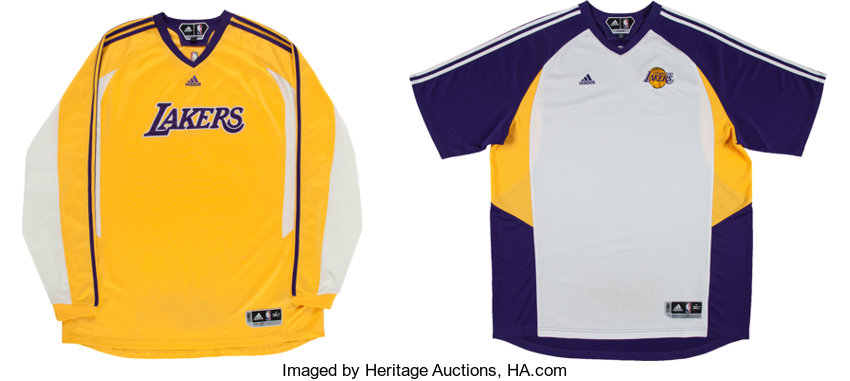 70e2c959e79 ... Basketball Collectibles:Uniforms, 2010's Metta World Peace Game Worn Los  Angeles Lakers Warm- ...
