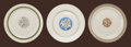 Ceramics & Porcelain, American:Modern  (1900 1949)  , Viktor Schreckengost (American, 1906-2008). Three Plates,circa 1930s, Manhattan, Triumph & Americana American Limoges.... (Total: 3 Items)