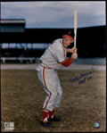 Baseball Collectibles:Photos, Stan Musial Signed Oversized Prints and Photographs Lot of 12....