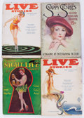 Pulps:Romance, Assorted Spicy Pulps Group of 4 (Various, 1918-33) Condition: Average GD/VG.... (Total: 4 Items)