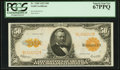 Large Size:Gold Certificates, Fr. 1200 $50 1922 Gold Certificate PCGS Superb Gem New 67PPQ.. ...