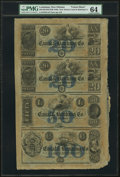 Obsoletes By State:Louisiana, New Orleans, LA- Canal & Banking Co. $20-$20-$50-$100 G32a-G32a-G44a-G56a Uncut Sheet. ...