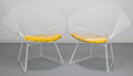 Furniture , Harry Bertoia (Italian/American, 1915-1978). Pair of Diamond Chairs with Seat Covers, designed 1952, Knoll Corp.. Powder... (Total: 2 Items)