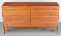 Furniture : American, Paul McCobb (American, 1917-1969). Chest of Drawers Model 1006, 1956, The Calvin Group. Mahogany, brass. 36-1/2 x 66 x 1...