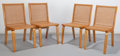 Furniture : American, Clifford Pascoe (American, 20th Century). Four Caned Dining Chairs, circa 1941. Birch plywood, caning. 33-1/2 x 18 x 20-... (Total: 4 Items)