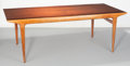 Furniture : Continental, Carlo di Carli (Italian, 1910-1971). Dining Table, circa1950. Oak and mahogany. 30-1/2 x 86-1/2 x 41 inches (77.5 x 219...