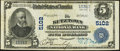 National Bank Notes:Pennsylvania, Kutztown, PA - $5 1902 Plain Back Fr. 606 The Kutztown NB Ch. #5102. ...