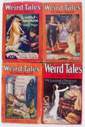 Pulps:Horror, Weird Tales Group of 4 (Popular Fiction, 1927-29) Condition:Average GD/VG.... (Total: 4 Items)