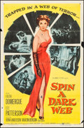 "Movie Posters:Crime, Spin a Dark Web & Other (Columbia, 1956). One Sheet (27"" X 41"") & Lobby Card Sets of 8 (2) (11"" x 14""). Crime.. ... (Total: 17 Items)"