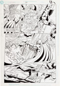 Original Comic Art:Panel Pages, Jim Aparo and Mike DeCarlo Batman #448 Story Page 6 Original Art (DC, 1990)....
