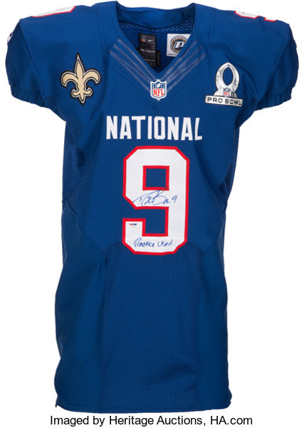 newest 94fb1 d6749 2013 Drew Brees Practice Worn, Signed NFC Pro Bowl Jersey ...