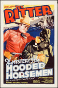 """Movie Posters:Western, The Mystery of the Hooded Horsemen (Grand National, 1937). One Sheet (27"""" X 41""""). Western.. ..."""