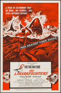 "Movie Posters:Adventure, The Sharkfighters (United Artists, 1956). One Sheet (27"" X 41"").Adventure.. ..."