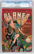 Golden Age (1938-1955):Science Fiction, Planet Comics #21 (Fiction House, 1942) CGC FN- 5.5 Off-white towhite pages....